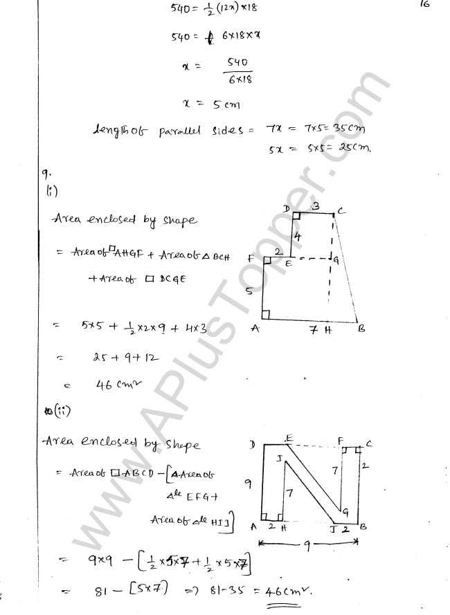 ML Aggarwal ICSE Solutions for Class 8 Maths Chapter 18 Mensuration 16