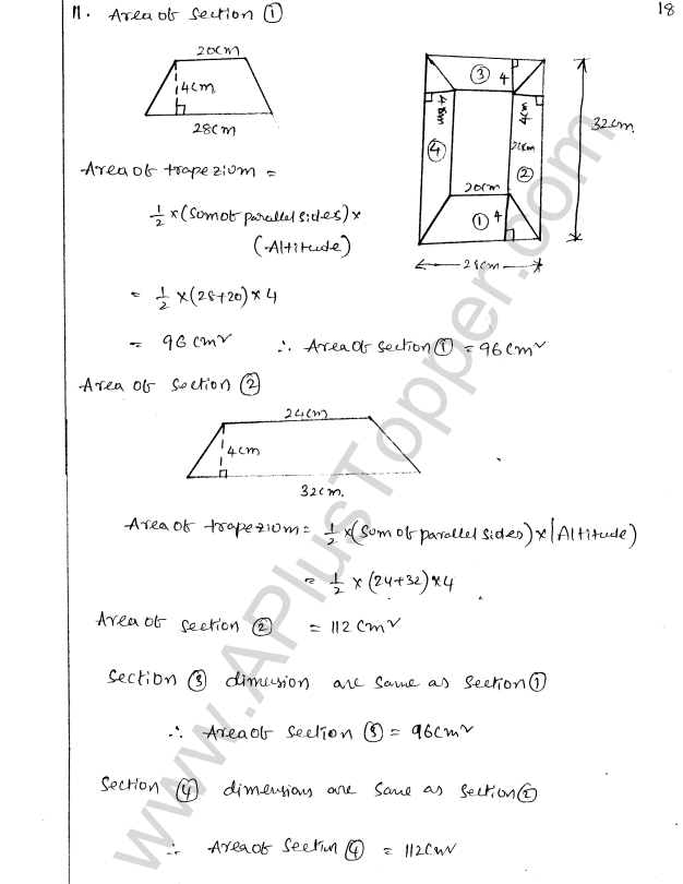 ML Aggarwal ICSE Solutions for Class 8 Maths Chapter 18 Mensuration 18