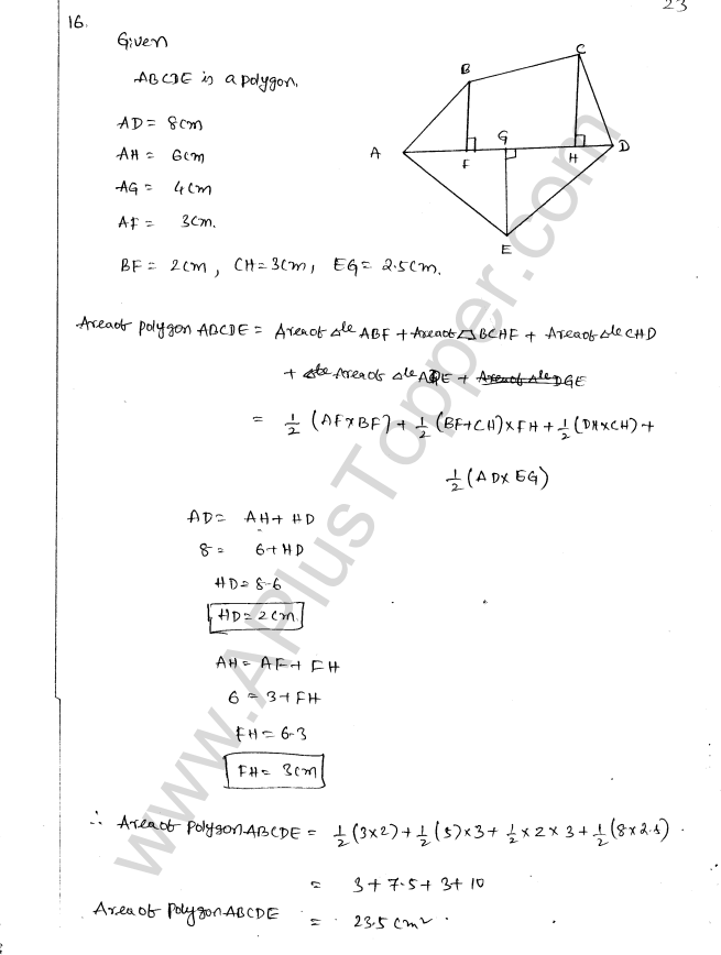 ML Aggarwal ICSE Solutions for Class 8 Maths Chapter 18 Mensuration 23