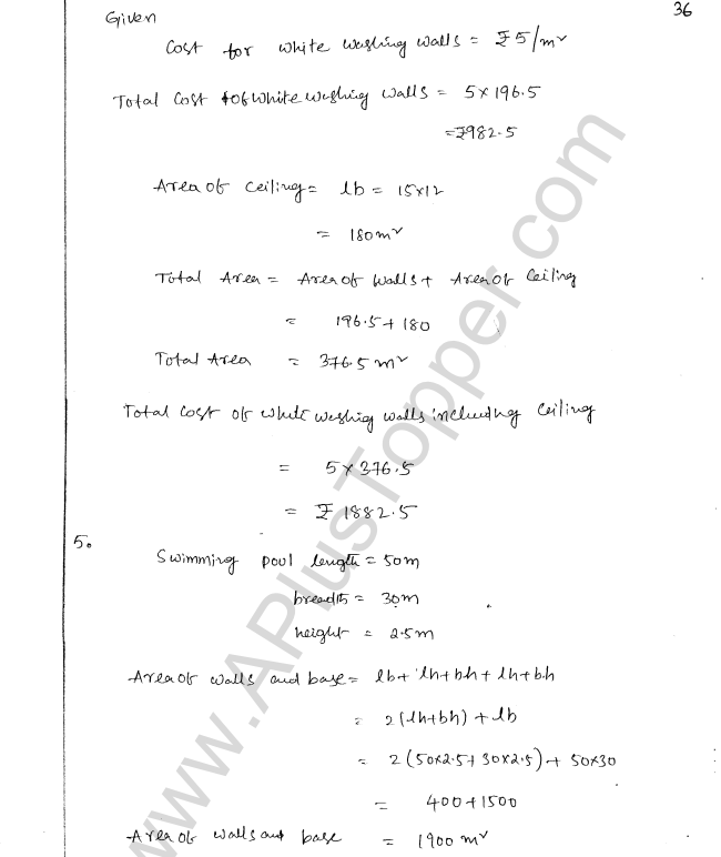 ML Aggarwal ICSE Solutions for Class 8 Maths Chapter 18 Mensuration 36