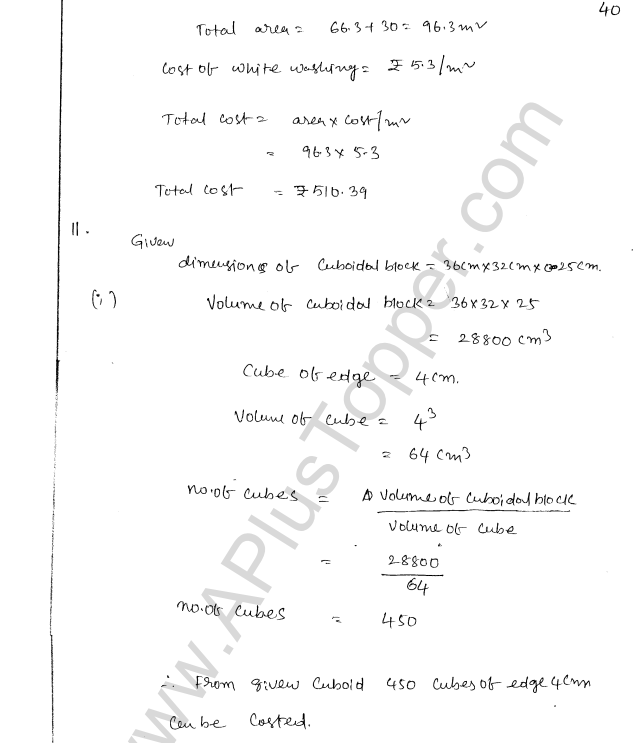 ML Aggarwal ICSE Solutions for Class 8 Maths Chapter 18 Mensuration 40