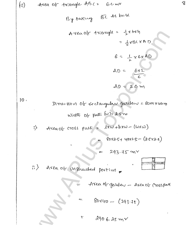 ML Aggarwal ICSE Solutions for Class 8 Maths Chapter 18 Mensuration 8