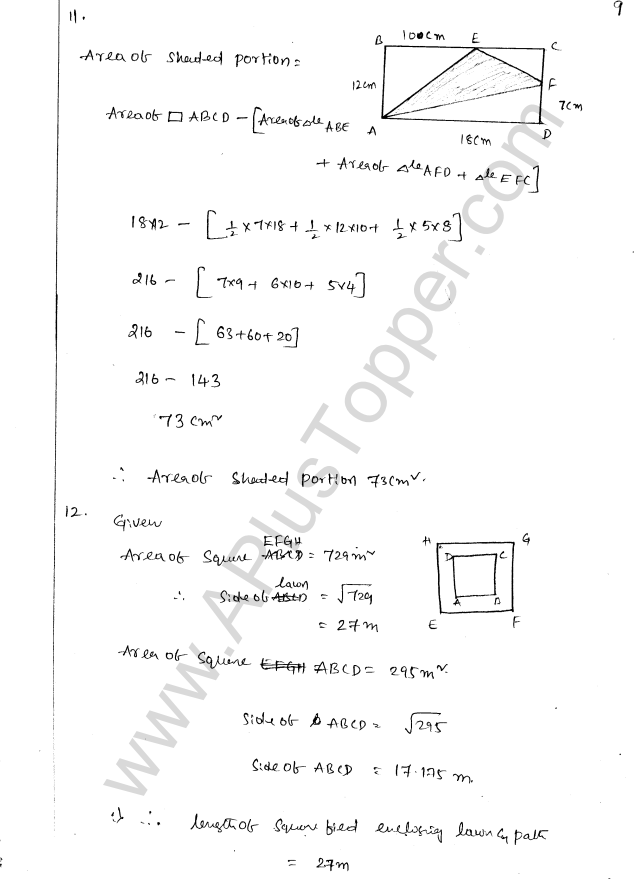 ML Aggarwal ICSE Solutions for Class 8 Maths Chapter 18 Mensuration 9
