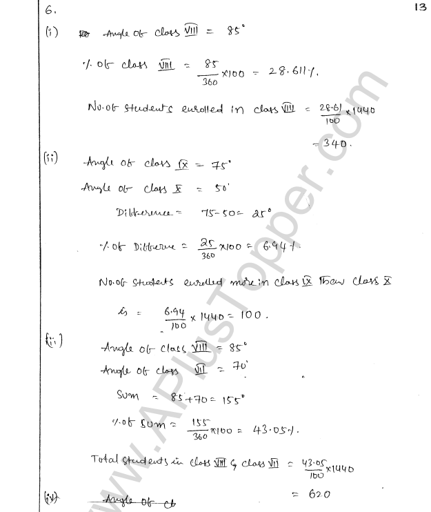 ML Aggarwal ICSE Solutions for Class 8 Maths Chapter 19 Data Handiling 13