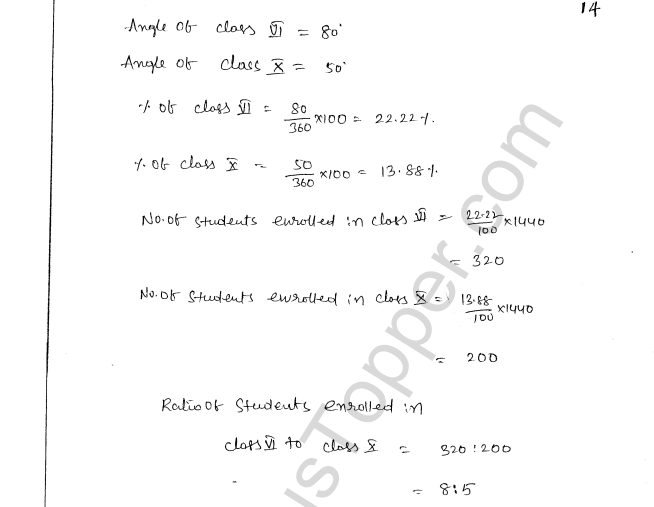 ML Aggarwal ICSE Solutions for Class 8 Maths Chapter 19 Data Handiling 14