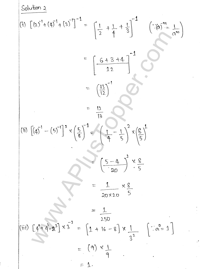 ML Aggarwal ICSE Solutions for Class 8 Maths Chapter 2 Exponents and Powers 2