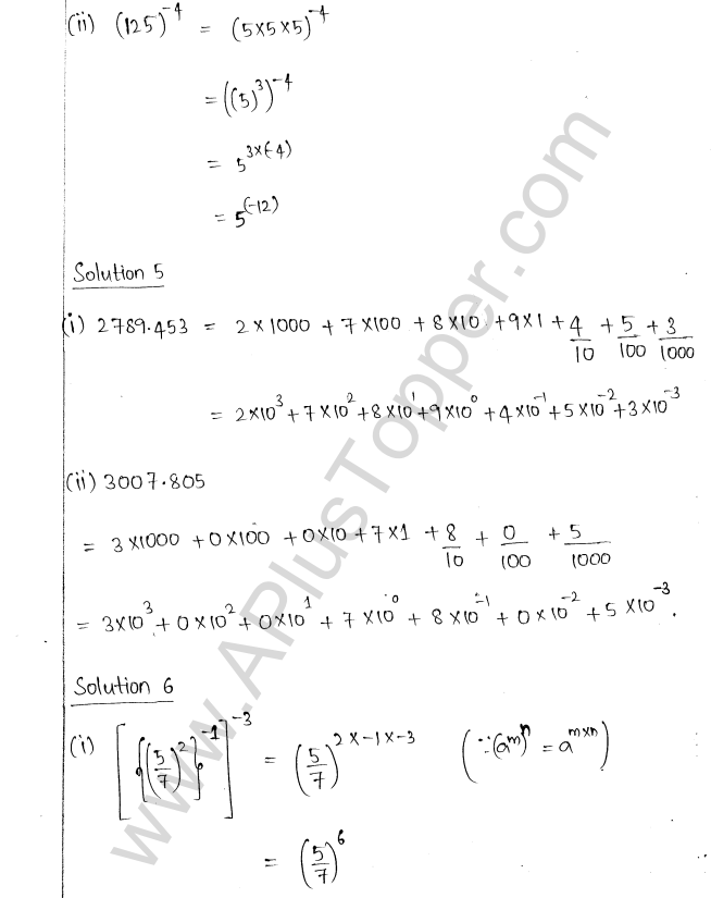 ML Aggarwal ICSE Solutions for Class 8 Maths Chapter 2 Exponents and Powers 5