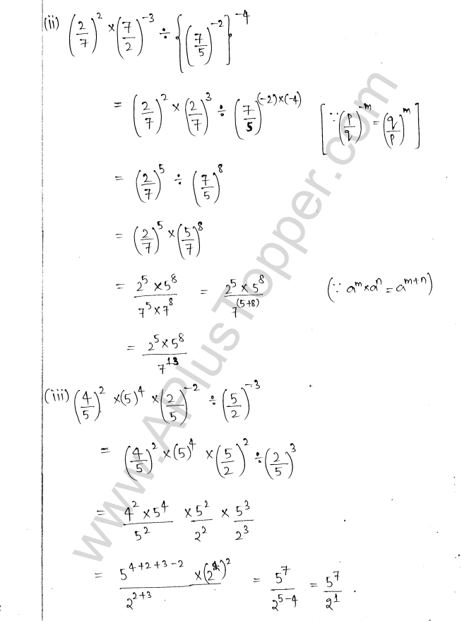 ML Aggarwal ICSE Solutions for Class 8 Maths Chapter 2 Exponents and Powers 6