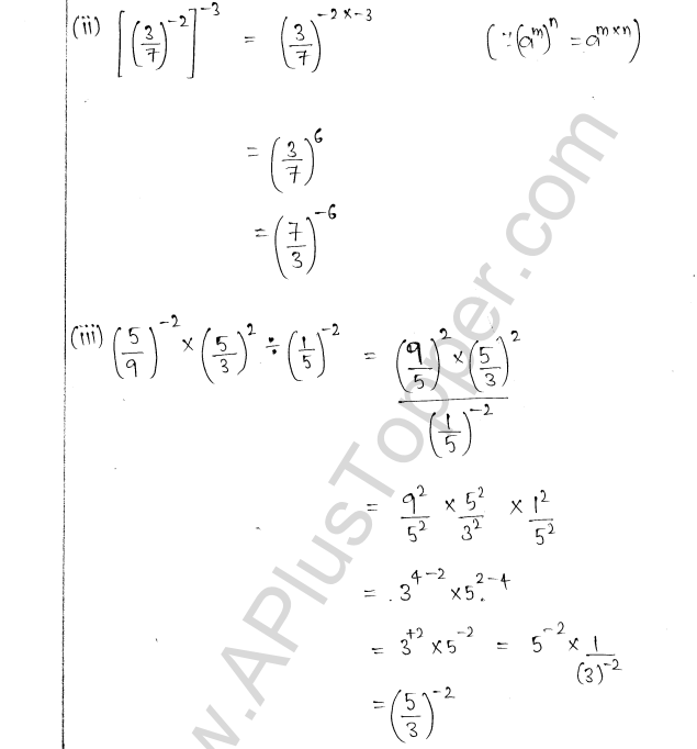 ML Aggarwal ICSE Solutions for Class 8 Maths Chapter 2 Exponents and Powers 9