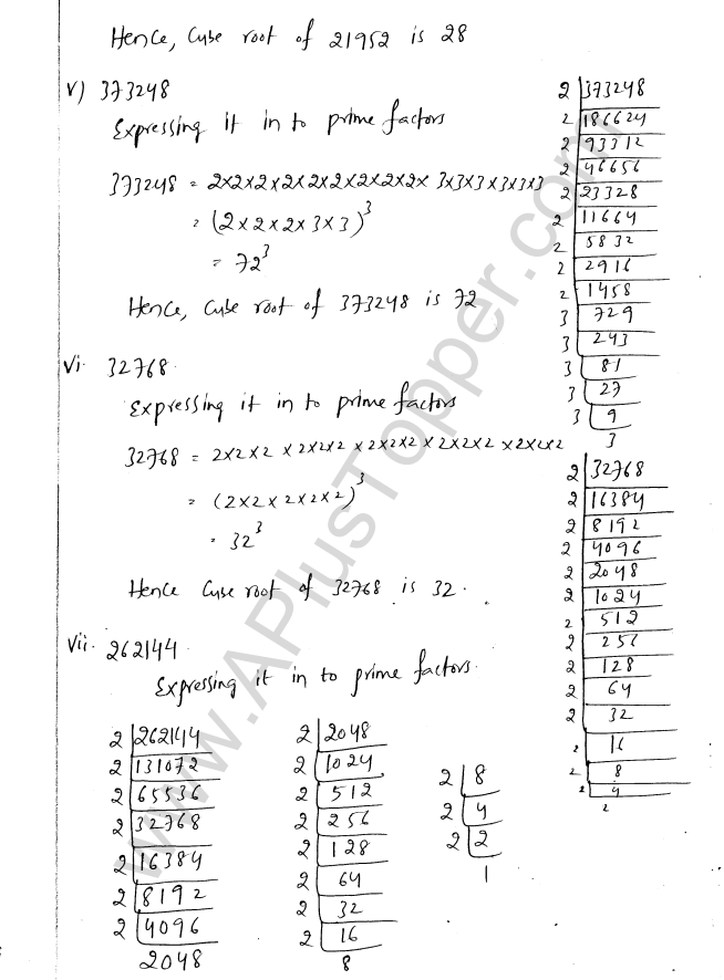 ML Aggarwal ICSE Solutions for Class 8 Maths Chapter 4 Cubes and Cube Roots 10