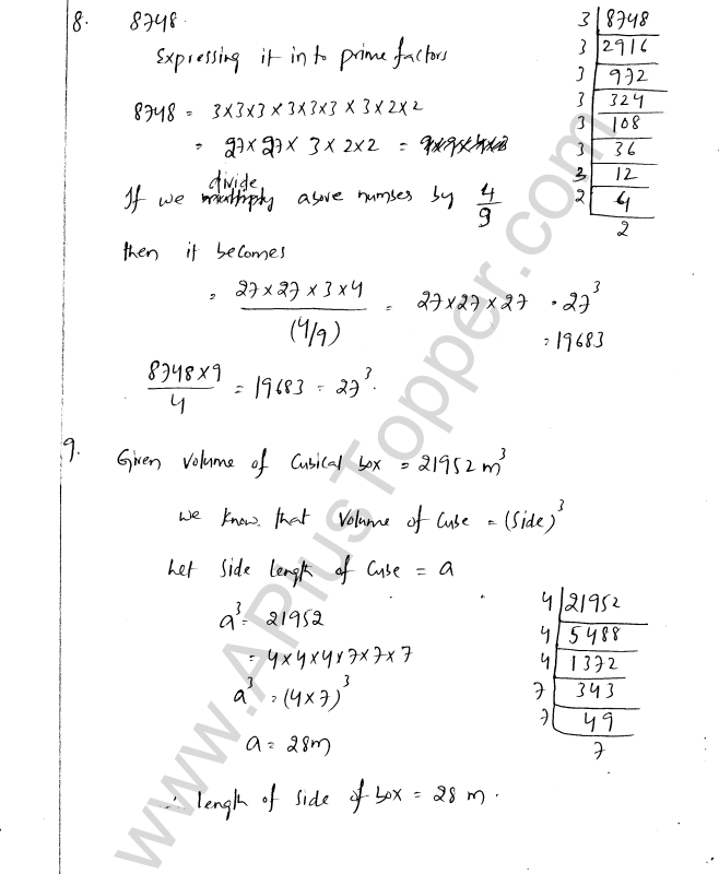 ML Aggarwal ICSE Solutions for Class 8 Maths Chapter 4 Cubes and Cube Roots 18
