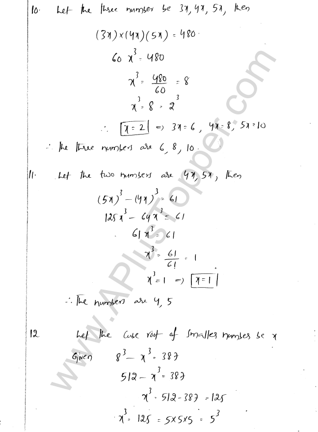 ML Aggarwal ICSE Solutions for Class 8 Maths Chapter 4 Cubes and Cube Roots 19