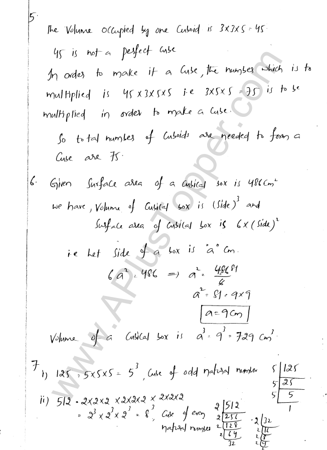 ML Aggarwal ICSE Solutions for Class 8 Maths Chapter 4 Cubes and Cube Roots 7