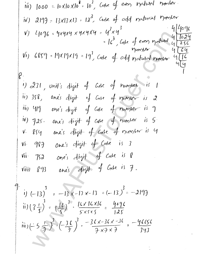 ML Aggarwal ICSE Solutions for Class 8 Maths Chapter 4 Cubes and Cube Roots 8