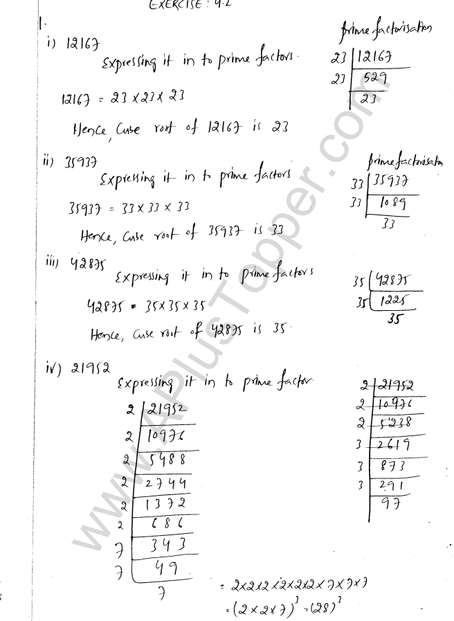 ML Aggarwal ICSE Solutions for Class 8 Maths Chapter 4 Cubes and Cube Roots 9
