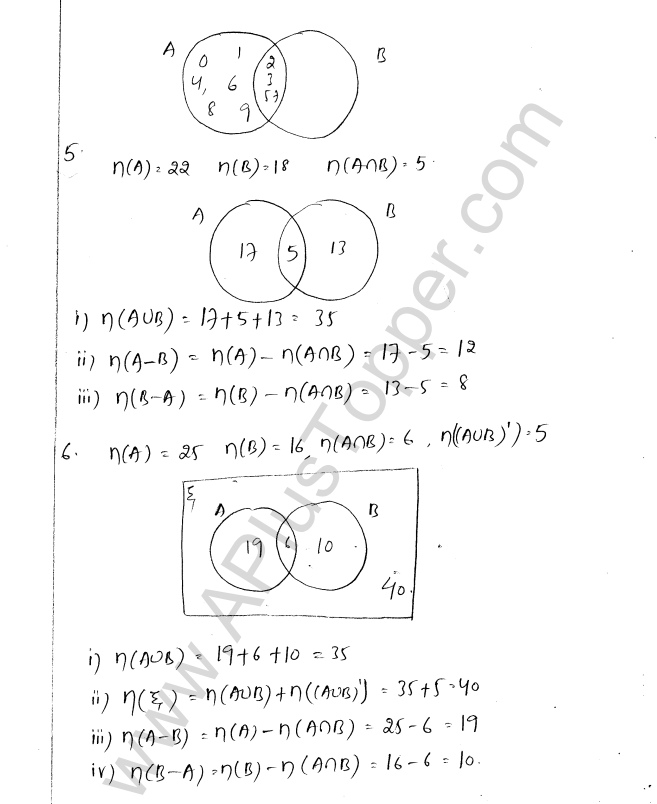 ML Aggarwal ICSE Solutions for Class 8 Maths Chapter 6 Operation on sets Venn Diagrams 10
