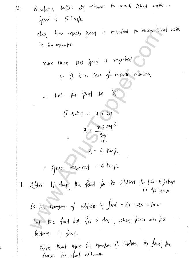 ML Aggarwal ICSE Solutions for Class 8 Maths Chapter 9 Direct and Inverse Variation 13