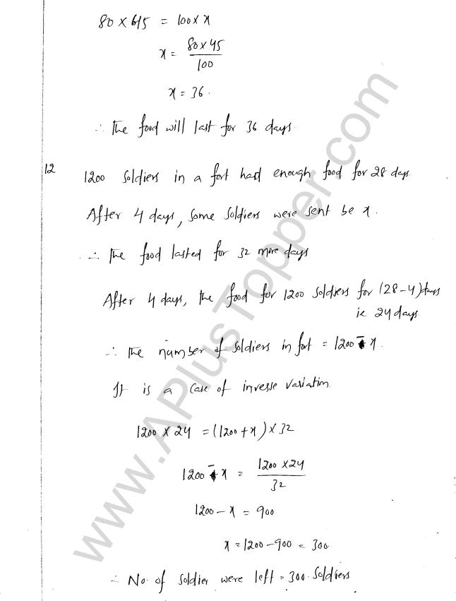 ML Aggarwal ICSE Solutions for Class 8 Maths Chapter 9 Direct and Inverse Variation 14