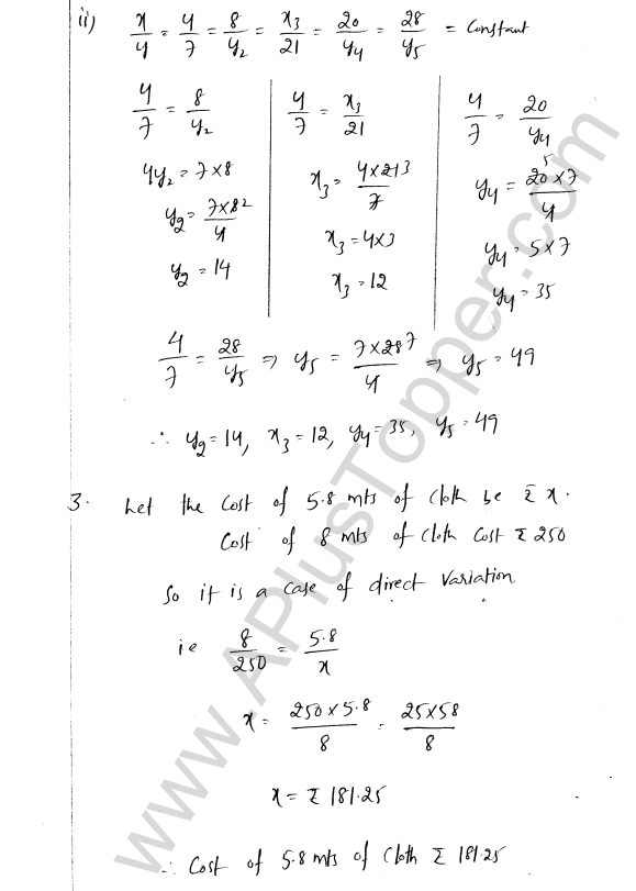 ML Aggarwal ICSE Solutions for Class 8 Maths Chapter 9 Direct and Inverse Variation 2