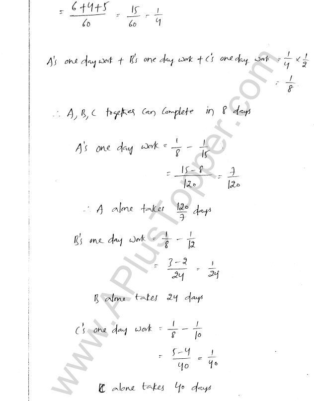ML Aggarwal ICSE Solutions for Class 8 Maths Chapter 9 Direct and Inverse Variation 22
