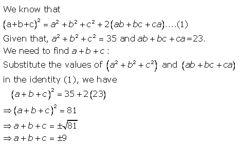 Selina Concise Mathematics Class 9 ICSE Solutions Expansions (Including Substitution) 46a