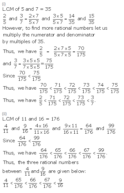 Selina Concise Mathematics Class 9 ICSE Solutions Rational and Irrational Numbers 2a