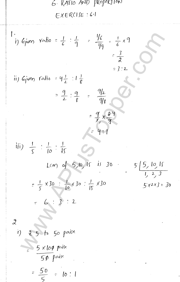 ml-aggarwal-icse-solutions-for-class-7-maths-chapter-6-ratio-and-proportion-1