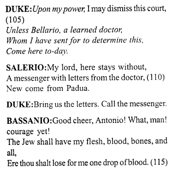 Merchant of Venice Act 4, Scene 1 Translation Meaning Annotations 10