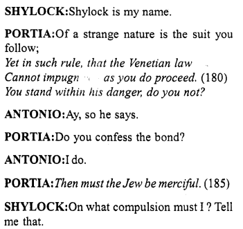 Merchant of Venice Act 4, Scene 1 Translation Meaning Annotations 17