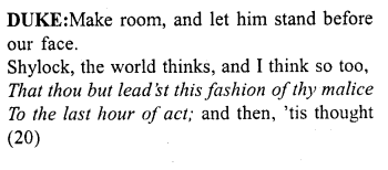 Merchant of Venice Act 4, Scene 1 Translation Meaning Annotations 2