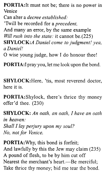 Merchant of Venice Act 4, Scene 1 Translation Meaning Annotations 21