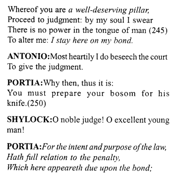 Merchant of Venice Act 4, Scene 1 Translation Meaning Annotations 23