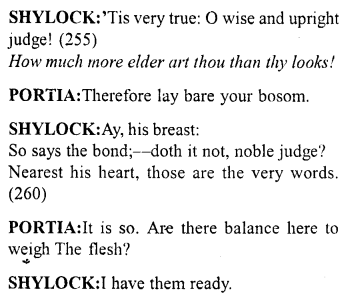 Merchant of Venice Act 4, Scene 1 Translation Meaning Annotations 24