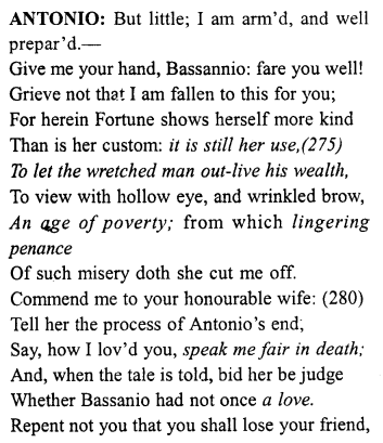Merchant of Venice Act 4, Scene 1 Translation Meaning Annotations 26