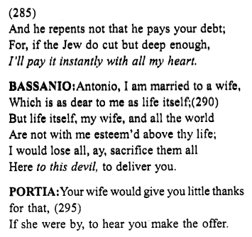 Merchant of Venice Act 4, Scene 1 Translation Meaning Annotations 27