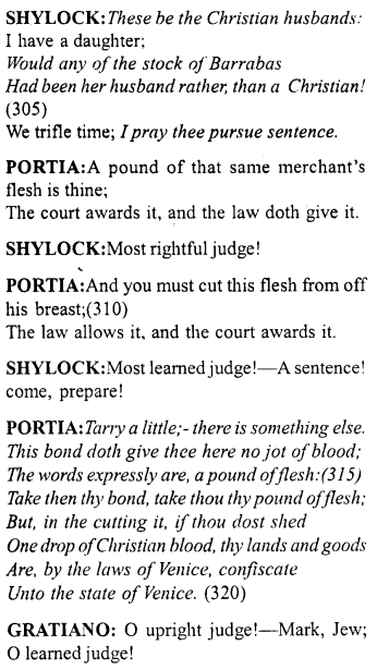Merchant of Venice Act 4, Scene 1 Translation Meaning Annotations 29