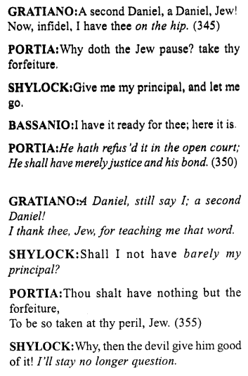 Merchant of Venice Act 4, Scene 1 Translation Meaning Annotations 31