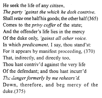 Merchant of Venice Act 4, Scene 1 Translation Meaning Annotations 33