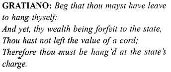 Merchant of Venice Act 4, Scene 1 Translation Meaning Annotations 34
