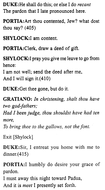 Merchant of Venice Act 4, Scene 1 Translation Meaning Annotations 36