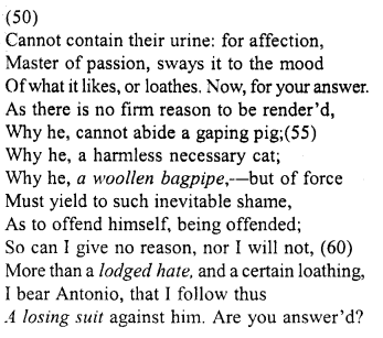 Merchant of Venice Act 4, Scene 1 Translation Meaning Annotations 5
