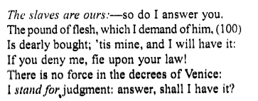 Merchant of Venice Act 4, Scene 1 Translation Meaning Annotations 9