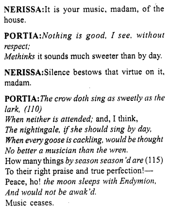 Merchant of Venice Act 5, Scene 1 Translation Meaning Annotations 10
