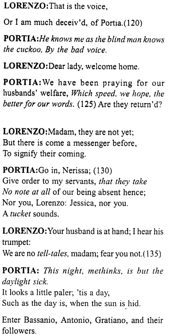 Merchant of Venice Act 5, Scene 1 Translation Meaning Annotations 11