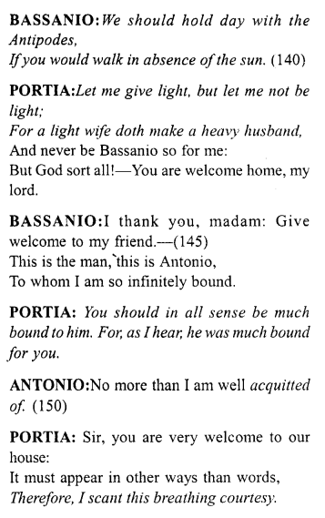 Merchant of Venice Act 5, Scene 1 Translation Meaning Annotations 12