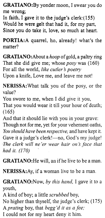 Merchant of Venice Act 5, Scene 1 Translation Meaning Annotations 13