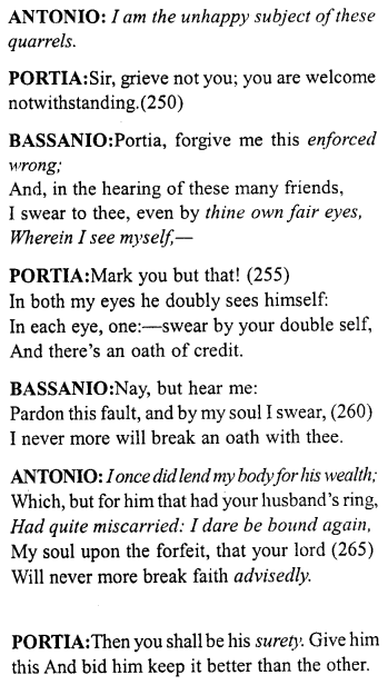 Merchant of Venice Act 5, Scene 1 Translation Meaning Annotations 18