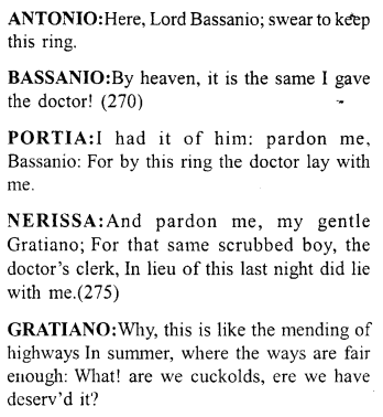Merchant of Venice Act 5, Scene 1 Translation Meaning Annotations 19