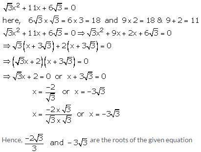 RS Aggarwal Solutions Class 10 Chapter 10 Quadratic Equations 10A 23.1
