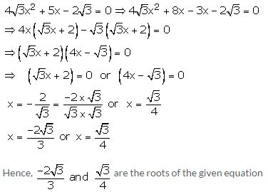 RS Aggarwal Solutions Class 10 Chapter 10 Quadratic Equations 10A 24.1